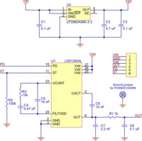 LISY300AL single-axis gyro schematic diagram.