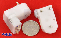 120:1 Mini Plastic Gearmotor, Offset 2mm Spline Output