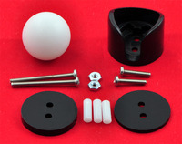 Pololu ball caster with 3/4 inch plastic ball with included hardware.