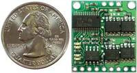 Pololu Low-Voltage Dual Serial Motor Controller with quarter.
