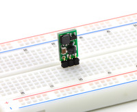 Pololu step-up voltage regulator NCP1402 in a breadboard.