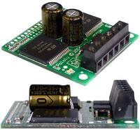 Pololu High-Current Dual Motor Driver Carrier (VNH2SP30 or VNH3SP30): capacitor-mounting examples.