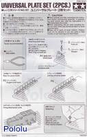 Instructions for Tamiya 70157 Universal Plate Set (2pcs.) page 1.