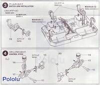Instructions for Tamiya 70106 4-Channel Remote Control Box page 2.