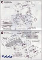 Instructions for Tamiya 70106 4-Channel Remote Control Box page 3.