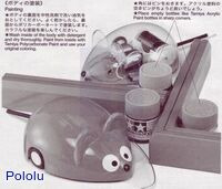 Instructions for Tamiya 70068 Wall-Hugging Mouse Kit page 5.