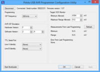 Pololu USB AVR programmer configuration utility for Windows.