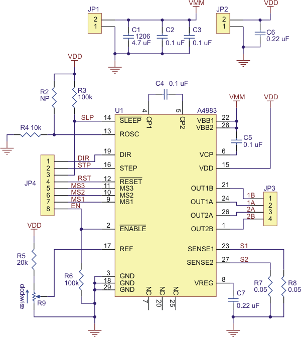 Stepping motor Simple stepper motor driver circuit