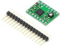 A4983/A4988 stepper motor driver carrier with included hardware.