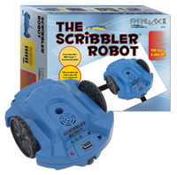 Parallax Scribbler Robot #28136 with box.