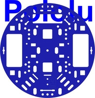"Pololu 5"" Robot Chassis RRC04A Solid Blue"