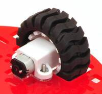 "The Pololu 5"" round robot chassis RRC04A using an included spacer."