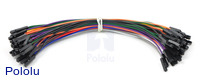Premium Jumper Wire 50-Piece Rainbow Assortment F-F 6""