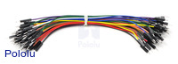 Premium Jumper Wire 50-Piece Rainbow Assortment M-M 6""