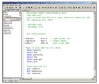 Text-based program for the Scribbler Robot.