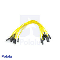 "Premium Jumper Wire 10-Pack M-F 6"" Yellow"