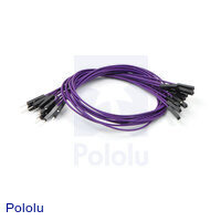 "Premium Jumper Wire 10-Pack M-F 12"" Purple"