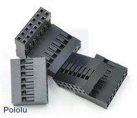 "0.1"" (2.54mm) Crimp Connector Housing: 2x7-Pin 5-Pack"