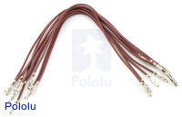 "Wires with Pre-crimped Terminals 10-Pack F-F 6"" Brown"