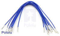 "Wires with Pre-crimped Terminals 10-Pack F-F 6"" Blue"
