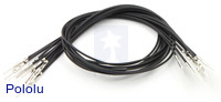 "Wires with Pre-crimped Terminals 10-Pack M-M 12"" Black"