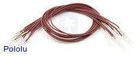 "Wires with Pre-crimped Terminals 10-Pack M-M 12"" Brown"