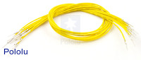 "Wires with Pre-crimped Terminals 10-Pack M-M 12"" Yellow"