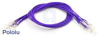 "Wires with Pre-crimped Terminals 10-Pack M-M 12"" Purple"