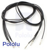"Wires with Pre-crimped Terminals 5-Pack F-F 24"" Black"