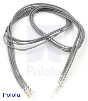"Wires with Pre-crimped Terminals 5-Pack M-F 24"" Gray"