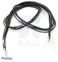 "Wires with Pre-crimped Terminals 5-Pack M-M 24"" Black"
