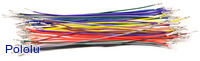 Wires with Pre-crimped Terminals 50-Piece Rainbow Assortment F-F 6""