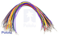 Wires with Pre-crimped Terminals 50-Piece Rainbow Assortment F-F 12""