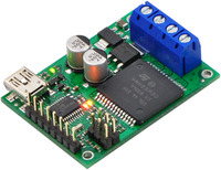 Jrk 12v12 USB motor controller with feedback with included hardware soldered in.