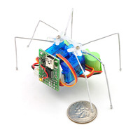 Micro Maestro as the brains of a tiny hexapod robot.
