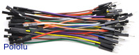 Premium Jumper Wire 50-Piece Rainbow Assortment M-F 3""