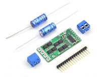 Pololu high-power motor driver with included hardware.