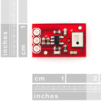 MEMS microphone breakout board top view.
