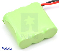 Rechargeable NiMH Battery Pack: 3.6 V, 350 mAh, 3x1 2/3-AAA Cells