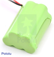 Rechargeable NiMH Battery Pack: 6.0 V, 700 mAh, 3+2 AAA Cells, XH Connector