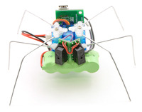 The assembled hexapod, front view.