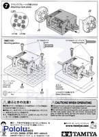 Instructions for Tamiya mini motor multi-ratio gearbox (12-speed) kit page 4.