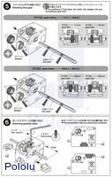 Instructions for Tamiya mini motor low-speed gearbox (4-speed) kit page 3.