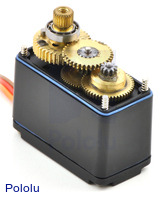 Metal gears and ball bearings of the Power HD high-speed digital servo DS120M.