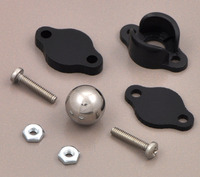 "Pololu ball caster with 3/8"" metal ball with included hardware."