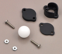 "Pololu ball caster with 1/2"" plastic ball with included hardware."