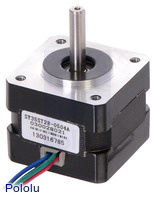 Stepper Motor: Bipolar, 200 Steps/Rev, 35×28mm, 10V, 0.5 A/Phase