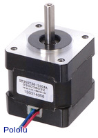 Stepper Motor: Bipolar, 200 Steps/Rev, 35×36mm, 2.7V, 1 A/Phase