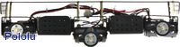 Side view of Dagu Wild Thumper 6WD chassis (black version).