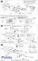 Instructions for Tamiya high-speed gearbox page 2.